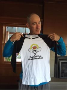 Brad Gilbert with PseudoFed t-shirt