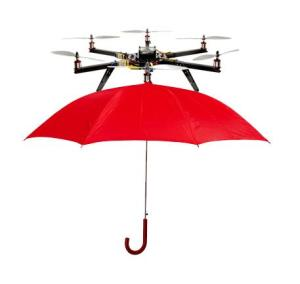 drone and umbrella